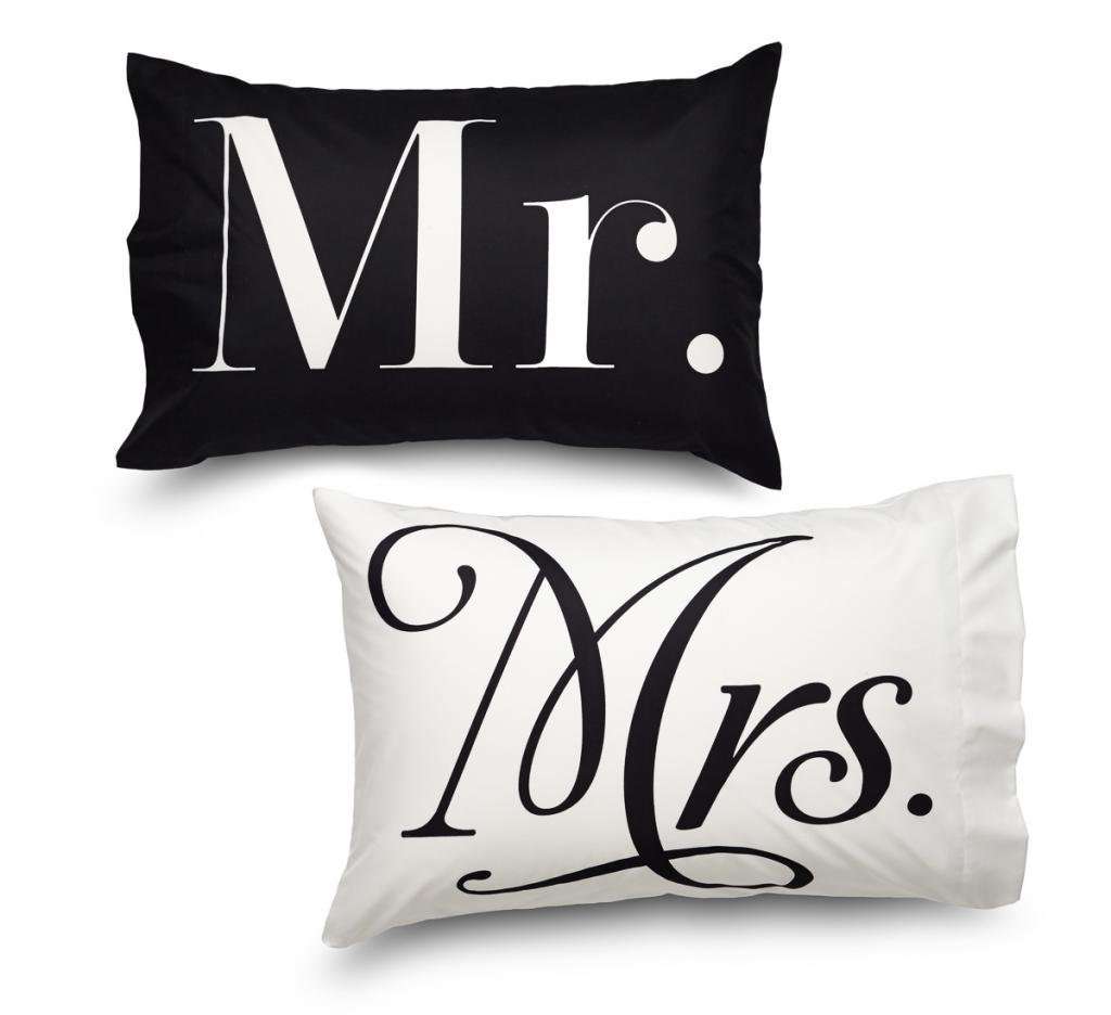 Queen Size Mr. and Mrs. Pillowcase Set