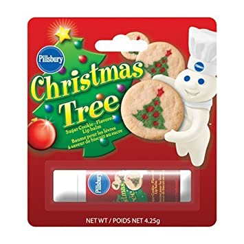Amazon.com: Pillsbury Christmas Tree Sugar Cookie Flavored Lip ...
