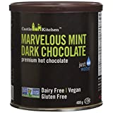 Castle Kitchen Marvelous Mint Premium Dark Hot Chocolate Mix - Vegan, Plant Based, Gluten Free, Dairy Free, Non-GMO Project Verified, Kosher, Just Add Water - 400g
