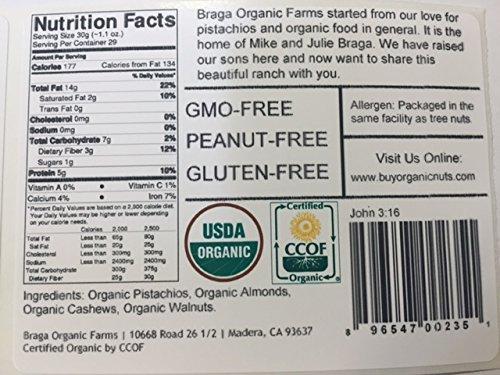 Braga Organic Farms Nut Mix, 2 Pound