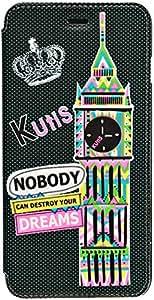 Kutis Pu Case Cover 3D Graffiti Design For iphone 6 Plus, Black