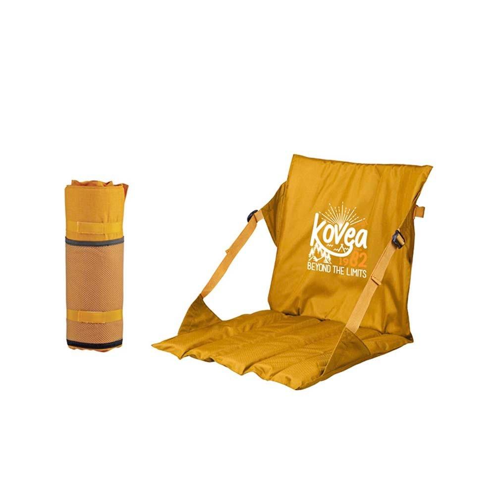 Kovea Camp Chair für Camping, Outdoor-Festivals, Spiele und mehr, schützt vor nassen Böden Einheitsgröße Senf