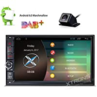 XTRONS 7 Inch Android 6.0 HD Digital Multi-touch Screen Car Stereo GPS Radio 1080P Video Screen Mirroring OBD2 Double Din Reversing Camera Included