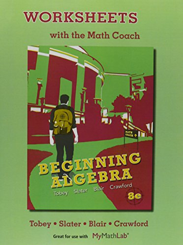 Worksheets With The Math Coach For Beginning Algebra