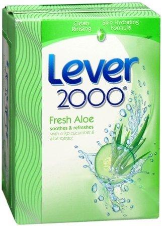 (Lever 2000 Refreshing Bar Soap, Fresh Aloe & Cucumber 4 oz, 2 ea (Pack of 5))