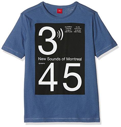 s.Oliver Jungen T-Shirt 61.607.32.6012, Blau (Blue 5450), 140 (Herstellergröße: S/REG)