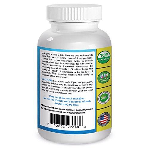 L arginine l citrulline dosage