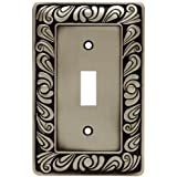 franklin brass 64048 paisley single toggle switch wall plate switch plate cover brushed satin pewter - Decorative Switch Plate Covers