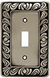 Franklin Brass 64048 Paisley Single Toggle Switch Wall Plate / Switch Plate / Cover, Brushed Satin Pewter