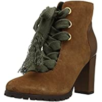The Fix Womens Tia Lug-Sole Ankle Bootie with Exaggerated Laces