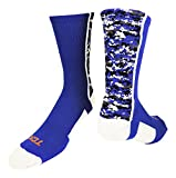 TCK Digital Camo Crew Socks (Royal/White, Large)