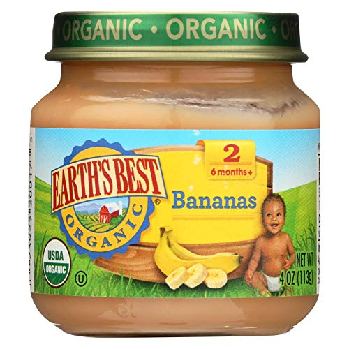Earths Best, Baby Food Jar Bananas Organic, 4 Ounce