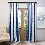 Best Home Back Tab Curtains - BOCH-KC101A-96 Blackout Curtain, Flambe Blue Review