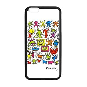 Canting_Good Cute Keith Haring White Case Cover For Apple Iphone 5C (Laser Technology)