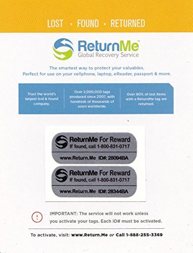 afde0b6876b3 Smart ID Decals with Lifetime Global Recovery Service – Protection for Your  Electronics or documents - Get Lost Items Returned Quickly. Use on ...