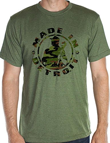 - Made In Detroit Shirt Mid - Camo Heather Army - 2XL