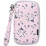 Skycase Passport Holder Travel Wallet with Credit Card Holder, Floral Pink