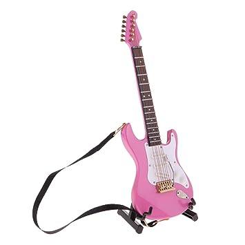 Amazon.es: KESOTO 1/6 Modelo Guitarra Eléctrica en Miniatura ...