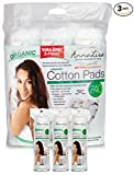 AnnaLisa 100% Pure ORGANIC Combed Cotton Pads for Makeup/Nail Polish...
