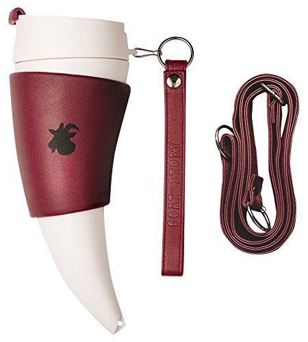 GOAT STORY Mug, Faux leather, 16 oz, Marsala