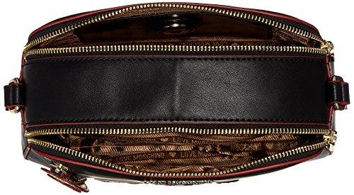 Love Moschino Borsa Calf Pu Nero - Borse Baguette Donna, Schwarz (Black), 16x23x8 cm (B x H T)