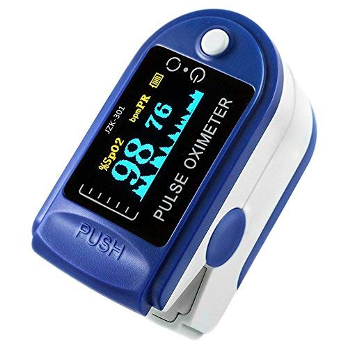 Oxygen Monitor Finger, leegoal LED Display Instant Read Digital Blood Oxygen Saturation Monitor SpO2 Sensor with Heart Rate Monitor, Cover for Family Health Care (Yellow)