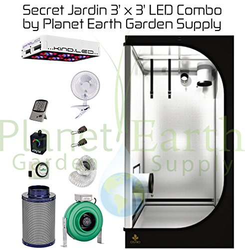 Secret Jardin Grow Tent ...  sc 1 st  Grow Tents & Secret Jardin Grow Tent (3u2032 x 3u2032) LED Combo Package #5 | How To ...