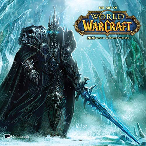 "2020 Large Wall Calendar -""World of Warcraft"" by Goldistock – 12″ x 24″ (Open) – Thick & Sturdy Paper – Amazing Artwork That is Sure to""Wow"""