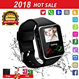 Smart watch for android phones,2018 Bluetooth smartwatch android phone watch, waterproof smart watches touchscreen with camera compatible IOS iphone X 8 7 6 6S 5 plus Android Samsung for women man