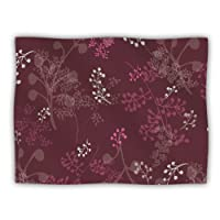 Kess InHouse Laurie Baars 'Ferns Vines Bordeaux' Maroon Pink Dog Blanket, 40 by 30-Inch