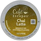 Cafe Escapes * CHAI LATTE * 48 K-Cups for Keurig Brewers