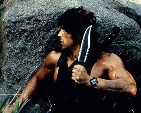 Rambo: First Blood Part II con Sylvester Stallone 14 x 11 ...