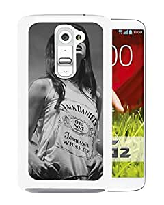 New Fashion Custom Designed Cover Case For LG G2 With Lana Del Rey 1 White Phone Case