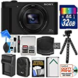 Sony Cyber-Shot DSC-HX80 Wi-Fi Digital Camera with 32GB Card + Case + Battery & Charger + Flex Tripod + DigitalAndMore Accessory Kit
