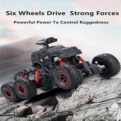 Zes Wielen Drive Remote Control Off-Road Vehicle Auto met Helicopter Big Light High Power RC Truck SUV Buggy Off Load auto speelgoed HAIKE