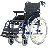 Leichtgewichtrollstuhl Bison 2 Blue faltbarer Rollstuhl Reiserollstuhl Größe 51 cm