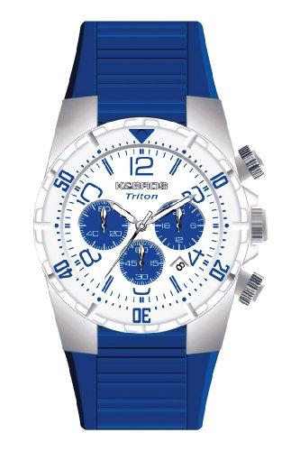 K&BROS Mens 9480-4 Ice Time Pu Chrono Watch