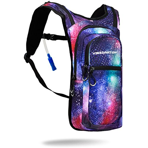 Vibedration Festival Hydration Pack| 2L Water Capacity | Perfect for Raves, Hiking & Camping (Galaxy – Classic)