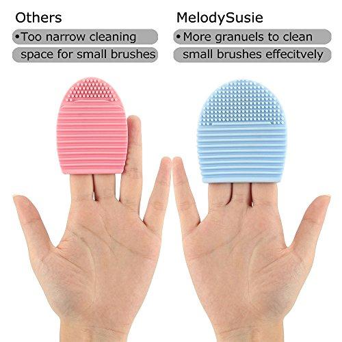 MelodySusie Big Size Makeup Brush Cleaner / Makeup Brush Egg / 3 Fingers Brush Cleaner - Beautieg (2 Pack).