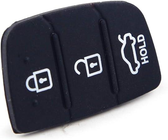 Beler 3 Tasten Silikon Fernbedienung Tastenfeld Schutzkappe Auto