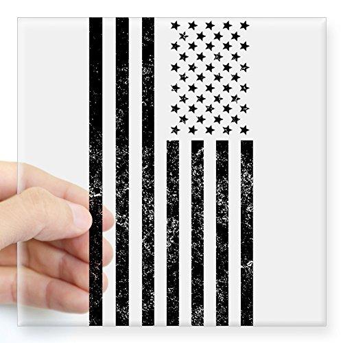 CafePress Distressed American Flag Sticker - Square Bumpe...