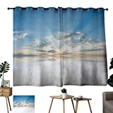 "inspiring rustic bathroom sinks Fabric Shower Curtain Liner Clouds,Vivid Inspiring Air with Clouds Meteoric Reflection Atmosphere Photo Print,Light Blue White 72""x96"",Home Garden Bedroom Outdoor Indoor Wall Decorations"