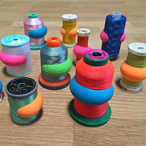 8/16/24/32/40/48pcs Thread Spool Huggers Keep Thread Spools from Unwinding Peels (D,24PC) by FreshZone