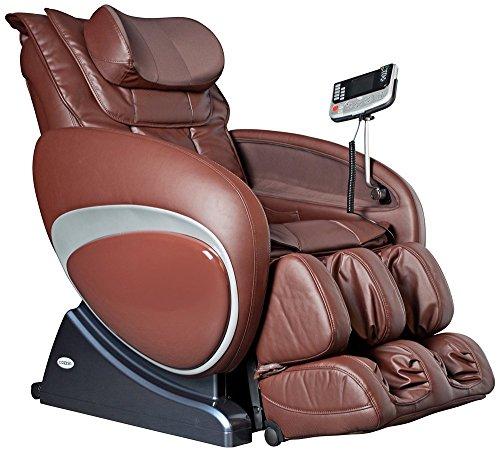 Cozzia 16027 Zero Gravity Shiatsu Massage Chair - Brown (Massage Cozzia)