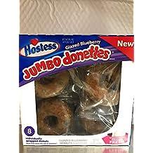Hostessed jumbo donuts glazed blueberry