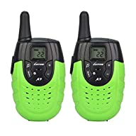 LUITON A7 Mini Handheld FRS GMRS Walkie Talkie Toy for kids Easily Operate and Long Distance Two-Way…