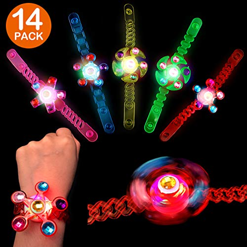 Satkago 14 Pack Light Up Party Favors, Glow in The Dark Party Supplies Birthday Party Favors for Boys Kids Girls Prizes Classroom Laser Tag LED Neon Party Favors Supplies