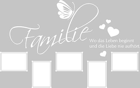 Graz Design Wandtattoo Bilderrahmen Fotowand Selbst Gestalten Wand Spruch Familie 90x57cm 010 Weiss Amazon De Kuche Haushalt