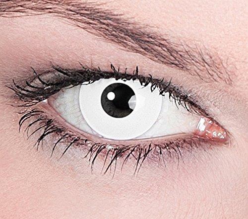 1 Paar Farbige Kontaktlinsen Weiß
