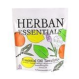 Herban Essentials Assorted Bag (All 5 Scents): Lemon Lavender Peppermint Orange and Eucalyptus (20 towelettes)